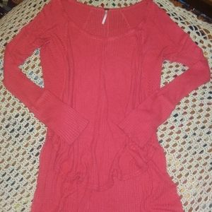 •°•free people•°• loong pink (salmon) shirt -M-